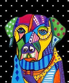 Dog Art  Labrador Retriever Lab Art Dog Print by HeatherGallerArt, $24.00