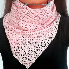 Best Image of Crochet Lace Scarf Pattern Crochet Lace Scarf Pattern How To Crochet A Lace Scarf Free Pattern Turcoaz Cu Vanilie Crochet Lacy Scarf, Lace Scarf, Crochet Scarves, Crochet Clothes, Ravelry Crochet, Free Crochet, Crochet Wraps, Free Knitting, Lace Knitting Patterns