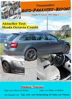 """Der Auto-Praxistest-Report Nr. 29 von Presseweller ist da. Im Blickpunkt steht der Skoda Octavia Combi, ein angenehmer und sparsamer Reisebegleiter.  Außerdem gibt es Tipps zu """"Fahren im Winter"""" sowie den Test Renault Clio. Bilder von früheren Autos, vom Goggo und Mini bis zum Ford 26M, sind auf der Rückseite zu sehen. Das Blättermagazin ist ohne Anmeldung bei presseweller.de unter """"Auto"""" aufrufbar. Titel: wellSi-made"""