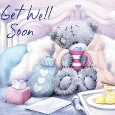 Tatty Teddy Bear - Get Well Soon