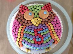 Eulentorte aus Smarties Birthday Cake, Desserts, Recipes, Food, Google, Inspiration, Children Cake, Birthday Cakes, Food And Drinks