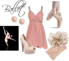 """""""Ballet Inspired Outfit"""" by sophiejinyou on Polyvore"""