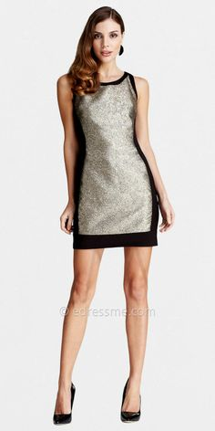 Sequin Sheath Color Block Party Dresses by LM Collection