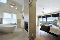 Eco-Entertainment - Contemporary - Bedroom - Austin - Panache Interiors