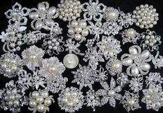 Lote 40pcs broche de diamantes de imitación de cristal