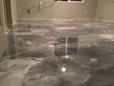 metallic epoxy over wood subfloor!!!   look for more ideas at our link