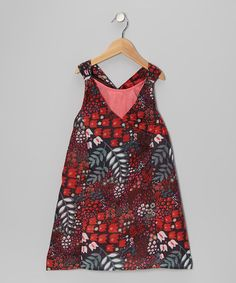 Look at this #zulilyfind! Red Flowing Flower Layered Dress - Toddler & Girls #zulilyfinds