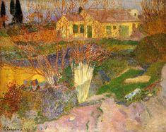 """""""Mas, in der Nähe von Arles"""", öl auf leinwand von Paul Gauguin (1848-1903, France)"""