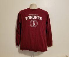 University of Toronto Adult Medium Burgundy Long Sleeve Sweatshirt #AlstyleApparel