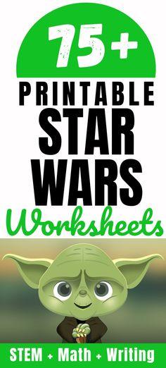 Star Wars Music, Star Wars Books, Printable Star, Free Printable Worksheets, Printables, Star Wars Classroom, Classroom Themes, Math Writing, Writing Activities