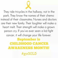 Childhood Cancer Awareness Month #Go Gold# / #Pray For Joshua Moore#