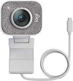 Logitech StreamCam, Cámara Web con USB-C para Streaming de vídeo y creación de Contenido, Vídeo Vertical Full HD 1080p a 60 fps, Versatilidad de Montaje, para Youtube, Gaming Twitch, PC/Mac, Blanco
