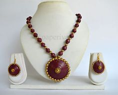 Classic Paper Quilling Necklace & Earrings Set