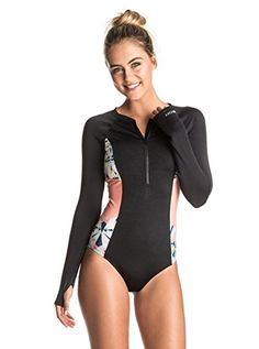 Roxy Women's Keep It Long Sleeve Onesie One Piece Swimsuit