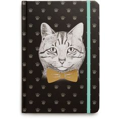 Tricoastal Cat Journal - Compare at $12 ($5.88) ❤ liked on Polyvore featuring home, home decor, stationery and multi