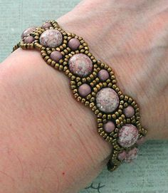 Linda's Crafty Inspirations: Bracelet of the Day: Canterbury with Candy Beads Beads Jewelry, Lace Jewelry, Seed Bead Bracelets, Jewelry Crafts, Jewelery, Handmade Jewelry, Seed Beads, Gemstone Jewelry, Beading Patterns Free