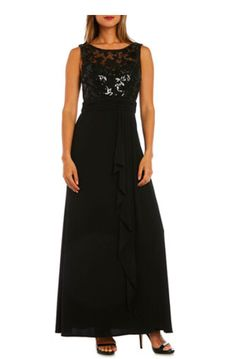 a346f2e7271  41.89 (62% OFF) - Nightway Sequined Bodice Sleeveless Gown