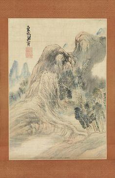 Autumn Landscape Yosa Buson  (Japanese, 1716–1783)  Date: ca. 1780