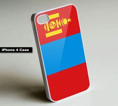 Mongolia Flag - iPhone 4 Case, iPhone 4s