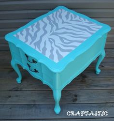 how to paint zebra stripes (or any pattern you like) on furniture