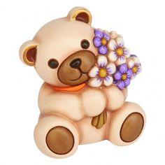 Teddy che porge mazzo di fiori maxi - Animali - Figure - I Classici Thun - Thun