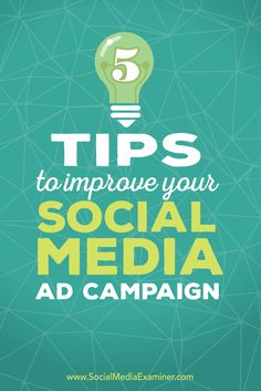 Are you ready to try ad targeting?  Using the right tactics to deliver and follow up on social media ad campaigns generates better quality leads.  In this article you'll discover five tips to improve your social media ad campaigns. Via @smexaminer
