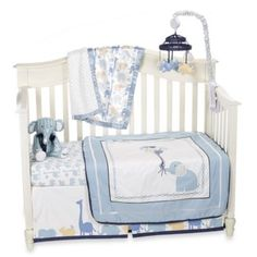 Petit Tresor Happy Animals Crib Bedding Collection - BedBathandBeyond.com