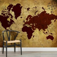 ancient-style-map-square-wall-murals