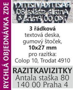 Textový štoček - deska pro razítka Colop 10, Trodat 4910