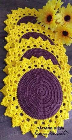 Crochet Doilies, Crochet Flowers, Crochet Sunflower, Hardanger Embroidery, Pot Holders, Free Crochet, Coasters, Diy And Crafts, Crochet Patterns