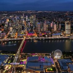 Gee @visitsouthbank, you're certainly looking rather lovely this evening! This precinct on the the southern banks of the #Brisbane River is home to 17 hectares of lush parkland, top-notch eateries and stunning river views. If you're into shopping for art, trinkets and hand-made goods, check out the @collectivemarkets which take place on Friday nights and all weekend. Photo: @aerialadvantage in @visitbrisbane Perth, Voyager Loin, Destinations, Melbourne, My Happy Place, Dream Big, Old Photos, Property For Sale, Times Square