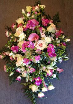 Stunning funeral tributes at www.tulipsandhollysurrey.com Funeral Tributes, Luxury Flowers, Tulips, Floral Wreath, Wreaths, Home Decor, Flower Crowns, Door Wreaths, Tulip