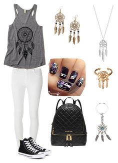 """""""Dreamcatcher Style"""" by marymmgg on Polyvore featuring Dorothy Perkins, Lucky Brand, Converse, Boohoo and MICHAEL Michael Kors"""