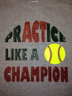 Custom Softball Shirt by BlingItOn72058 on Etsy, $20.00