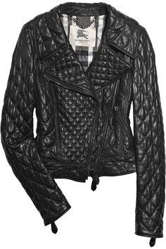 burberry quilted biker jacket