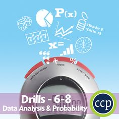 For grades 6-8, our resource meets the data analysis & probability concepts addressed by the NCTM standards and encourages your students to review the concepts in unique ways. Each drill sheet contains warm-up and timed drill activities for the student to practice data analysis & probability concepts.
