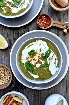 spiced broccoli and silver beet soup