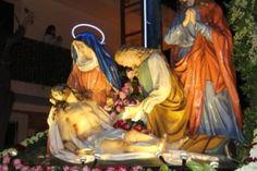 Gesù deposto dalla croce in una delle vare di Barcellona