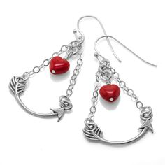 Heart and Arrow Earrings | Fusion Beads Inspiration Gallery