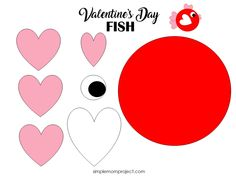 See this post for a FREE printable template to make your own Valentine's Day Fish! This simple DIY Fish Valentine's Day card is an easy craft for toddlers, big kids and adults to make. Great for classroom Valentine's Day art projects. Valentines Bricolage, Kinder Valentines, Valentine Crafts For Kids, Valentines Day Activities, Valentines For Kids, Diy Valentine, Cool Diy, Fun Diy, Saint Valentin Diy
