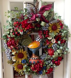 Americana Rooster Wreath