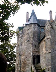 Chateau Montmuran,Rennes,Bretagne,France.In 1352 in midst of the War of Succession of Bretagne(1341-64),castle passed to family of Laval,1 of the most illustrious families in France at the time & relatives by marriage to Montfort,who reigned Duchy of Brittany from 1364 til the final union to kingdom of France in 1562.In 1374 Bertrand du Guesclin Constable to the King,supreme commander of Royal forces,married here in chapel of Montmuran,Jeanne de Laval & became owner til 1380,when he died.