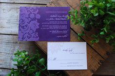 Wedding Invitation - Purple Lace. $2.70, via Etsy. @ayesha_bolden don't you like purple?