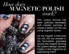 Crazy metallic nail polish