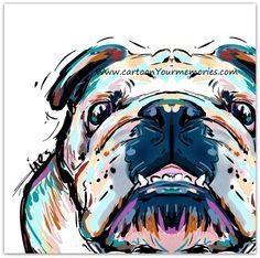 Impresión de arte de Bulldog