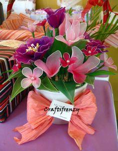 nylon stocking flower