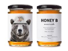 a conceptual branding for raw honey.This is a conceptual branding for raw honey. Honey Packaging, Cool Packaging, Beverage Packaging, Bottle Packaging, Brand Packaging, Ice Cream Varieties, Honey Bottles, Honey Brand, Honey Label