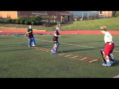 Field Hockey Goalie Warm Up Ladder Drill 2 - YouTube