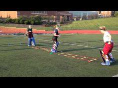 Field Hockey Goalie Footwork Drill - YouTube