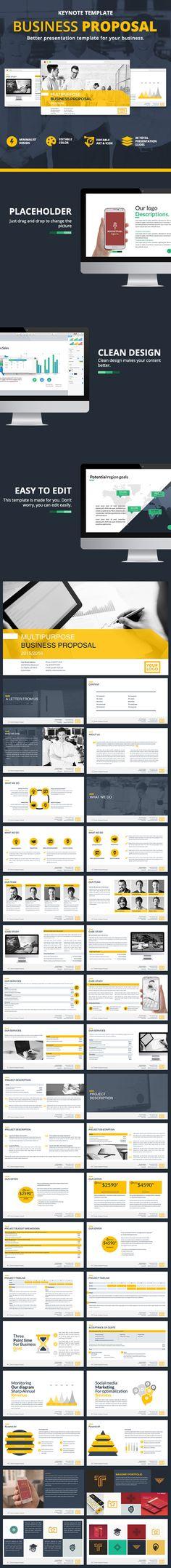 Business Proposal Keynote Template #design #slides Download: http://graphicriver.net/item/business-proposal-keynote/12583742?ref=ksioks